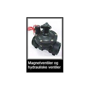 Magnetventiler og hydrauliske ventiler