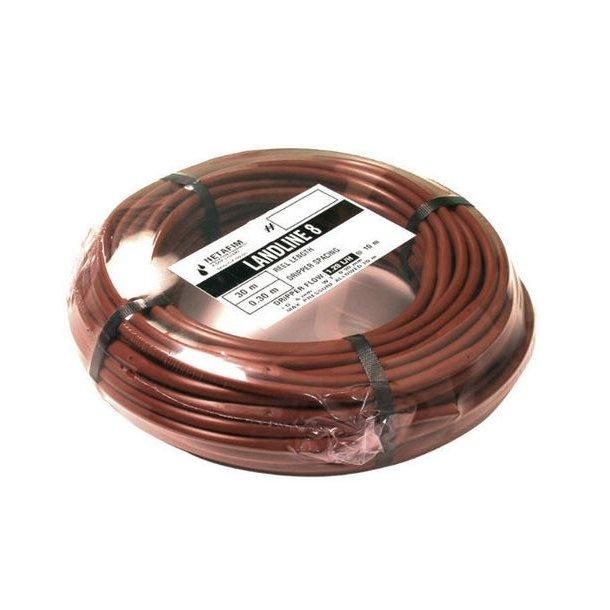 Landline drypslange 8 mm brun, 2.0 l/t, 0,30 m afst. 30 m