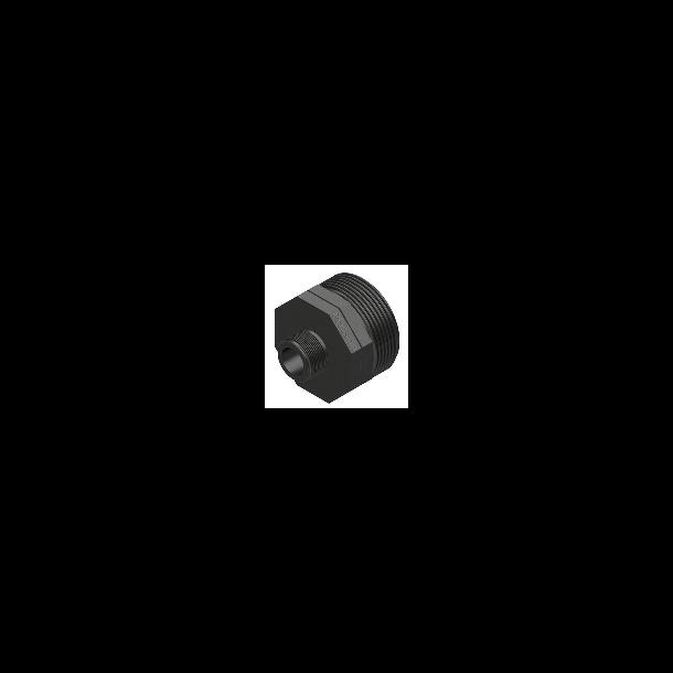 Red-nippel Plasson 1½ x 11/4