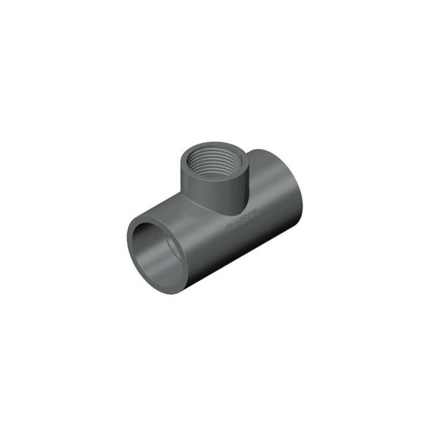 Tee PVC 50x3/4