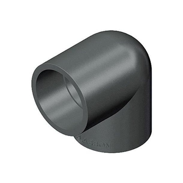 Vinkel PVC 63 mm, 90 gr.